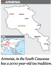 Armenia, in the South Caucasus  has a 2000 year-old tea tradition